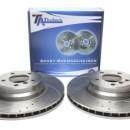 Discos Ta-technix Perfurados - Ranhurados + Ventilados BMW E90 / 91/92/93 / X1 E84