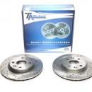 Discos Ta-Technix Perfurados + Ranhurados + Ventilados Renault Clio 2 II 259mm