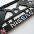 Placa de matricula Nissan