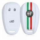 Capa de Chave em silicone branca Alfa Romeo Giulia / Giulietta / Stelvio