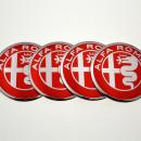 Centros de Jantes em 3D Alfa Romeo 56mm vermelhos