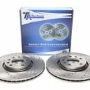 Discos frontais Ta-Technix Perfurados + Ranhurados + Ventilados Opel Corsa D 308mm