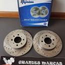 Discos perfurados e ranhurados MG ZR, Rover 25, Rover 200, Rover 400   262mm