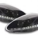 Farois Daylight Fiat Grande Punto pretos LED TFL