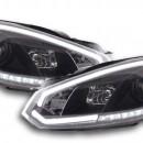 Faróis Daylight LED Daytime Running Luz VW Golf 6 Yr. 08-12 preto