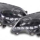Faróis de luz diurna VW Polo 9N3 pretos 05-09