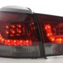 Farolins Led pretos/vermelhos Vw Golf 6