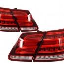 Farolins MERCEDES Benz E-Class W212 (2009-2013) Conversion Facelift Design Red/Clear