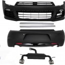 Kit de carroçaria VW Scirocco Mk3 III (2008-up) R20 com sistema de escape