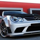 Lip frontal Mercedes CLK W209 Black F1