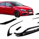Splitters frontais com Lip Mercedes A-Class W176  W176 Facelift AMG Line (2015-2018)