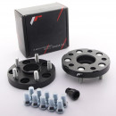 Adaptadores de furação Japan Racing 5x120 para 5x112 20mm pretos