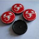 Centros de Jantes Abarth Vermelhos 56/52mm