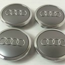 Centros de Jantes Audi 69mm cinza