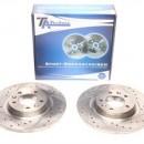 Discos Ta-Technix Perfurados e Ranhurados Citroen C5 RD 290mm