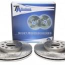 Discos Ta-Technix Perfurados + Ranhurados + Ventilados Audi A3 8P 288mm