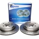 Discos traseiros Ta-Technix Perfurados + Ranhurados + Ventilados BMW E92 320D 300mm