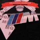 Emblema BMW M cromado adesivo