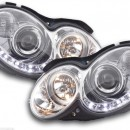Faróis de luz diurna Mercedes CLK W209 Bj. 04-09 cromo