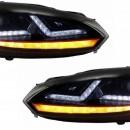 Faróis VW Golf 6 VI (2008-2012) Luzes de giro dinâmicas sequenciais LED vermelho GTI