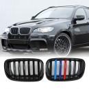 Grelhas com listas BMW E71 X1 E70 X5 ///M em plastico