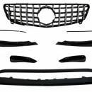 Splitters frontais com Lip e Grelha Mercedes A-Class W176  W176 Facelift AMG Line (2015-2018)