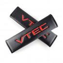 Almofadas de Cintos Honda Vtec tipo carbono