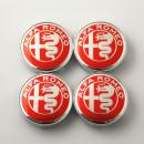 Centros de Jantes Alfa Romeo 60/56mm vermelhos