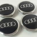 Centros de Jantes Audi 69mm pretos