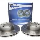 Discos Ta-technix Perfurados + Ranhurados + Ventilados  BMW BMW F20 / F30 / E90/91/92/93 / X1 E84 312mm