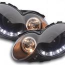 Faróis de luz diurna  Mercedes CLK W209 Bj. 04-09 preto