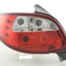 Farolins Peugeot 206 98-05 clear/red