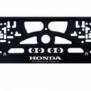 Placa de matricula Honda
