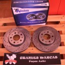 Discos dianteiros Ta-Technix Ventilados + Perfurados + Ranhurados Volvo S70 280mm