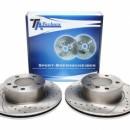 Discos frontais Ta-Technix Ranhurados + Perfurados + Ventilados BMW E82 292mm
