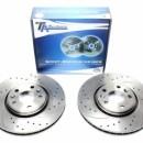 Discos Frontais Ta-Technix Ranhurados + Perfurados + Ventilados Renault Laguna III 320mm