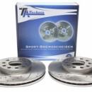 Discos frontais Ta-Technix Ranhurados + Perfurados + Ventilados Seat Leon 5F 288mm