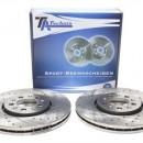 Discos Ta-Technix Perfurados + Ranhurados + Ventilados Vw Golf 4  288mm