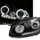 Faróis CCFL Angel Eyes VW Golf 6 pretos