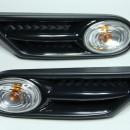 Piscas laterias cromados com grelhas Mini Cooper R56 R57