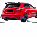 Splitters traseiros do para-choques Mercedes A-Class W176  A45 Aero Edition Look