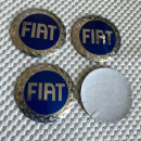 Centros de Jantes em 3D Fiat 56mm azul/prata