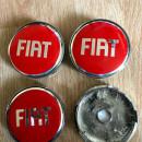 Centros de Jantes Fiat 60/57mm vermelhos