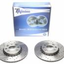 Discos frontais Ta-Technix Ranhurados + Perfurados + Ventilados Opel Tigra 256mm