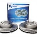 Discos Ta-Technix Perfurados + Ranhurados + Ventilados BMW E60 324mm