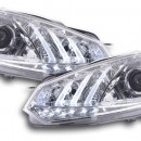 Faróis Daylight LED TFL-Optic VW Golf 6 cromados