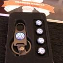 Tampas de valvulas + porta-chaves VW
