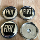 Centros de Jantes Fiat 60/57mm prata/pretos