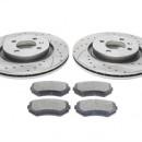 Discos frontais Ta-Technix Ranhurados + Perfurados com pastilhas de travão Seat Ibiza 6K2 280mm