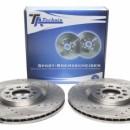 Discos frontais Ta-Technix Ranhurados + Perfurados + Ventilados Audi TT 8N 312mm
